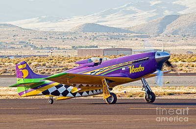 Voodo Photograph - Voodo Taxying - #5 P51 by Steve Rowland