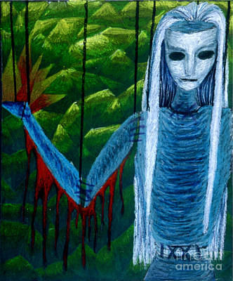Voodoo II The Effects Of Voodoo Art Print by Coriander  Shea