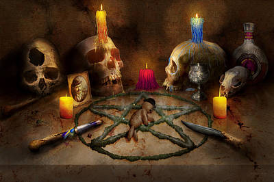 Pentagram Photograph - Voodoo - The Power Of Voodoo by Mike Savad