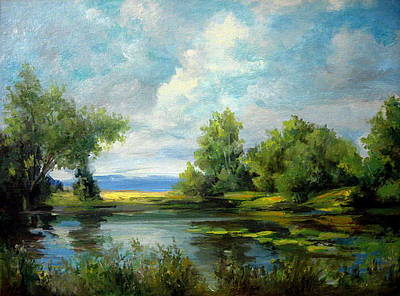 Painting - Voronezh River Beauty by Mikhail Savchenko