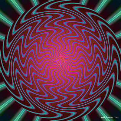 Digital Art - Vortex 4 by WB Johnston