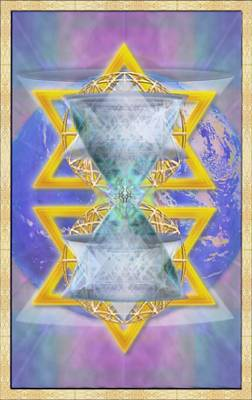 Vortex Chalice Spheres And Star Over Earth Art Print