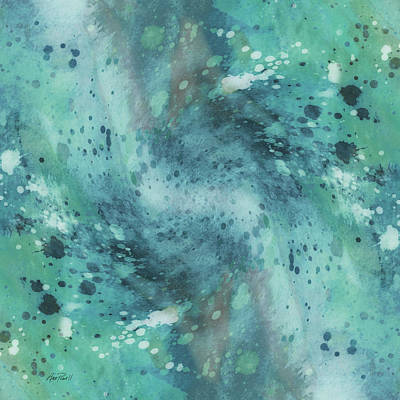 Digital Art - Vortex In Blue - Abstract Art by Ann Powell