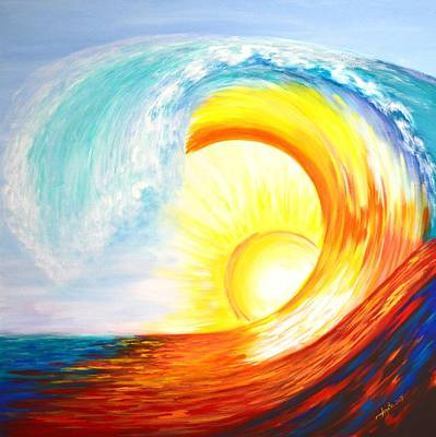 Painting - Vortex Wave by Agata Lindquist