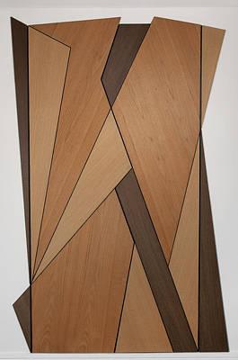 Wood Veneer Painting - Vorticist Doors by Carolyn Hubbard-Ford