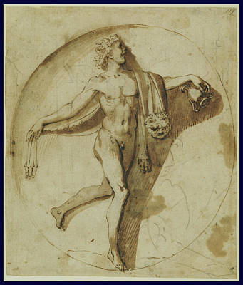 Wash Drawing - Votary Of Bacchus Nicolas Poussin, French by Litz Collection