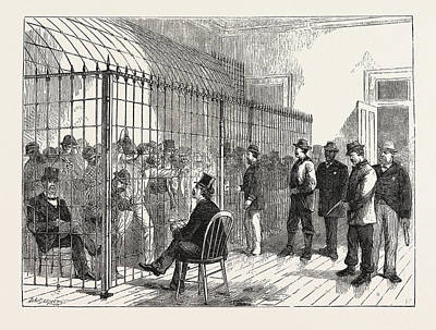 Voters On Election-day In The New Post Office, New York Art Print