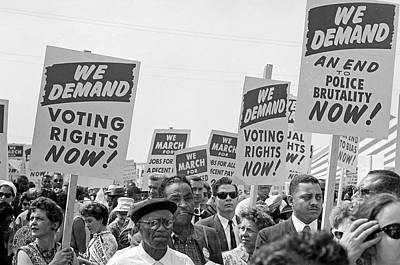 Voting Rights March In Washington Dc 1963 Art Print by Mountain Dreams