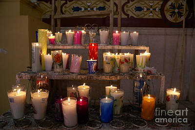 Photograph - Votive Candles Mexico by John  Mitchell