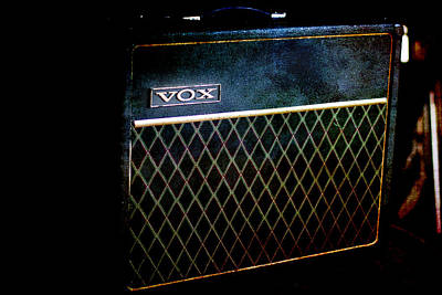 Photograph - Vox Guitar Amplifier by Gunter Nezhoda