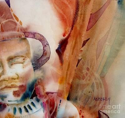 Painting - Voyage En Inde by Donna Acheson-Juillet