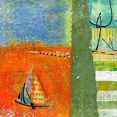 British Abstract Art Painting - Voyage  by Shuya Cheng