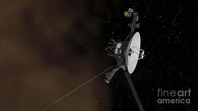 Voyager 1 Spacecraft Entering Art Print