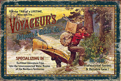 Paddler Wall Art - Painting - Voyageurs Outpost by JQ Licensing