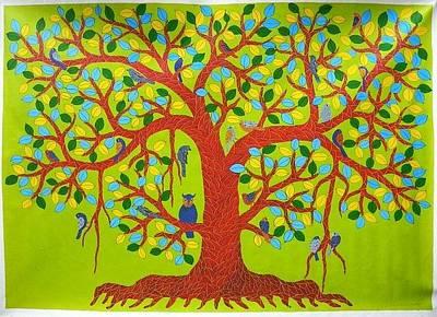Venkat Raman Singh Shyam Painting - Vrss 87 by Venkat Raman Singh Shyam