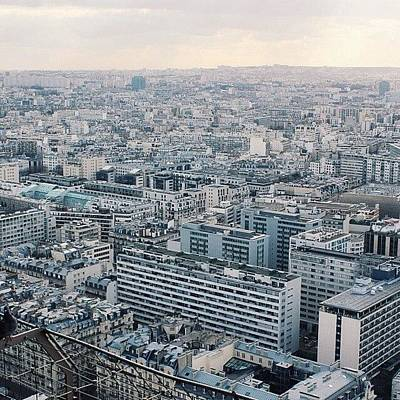 Paris Skyline Photograph - #vscocam #vsco #paris #skyline #city by Kaeman Graham