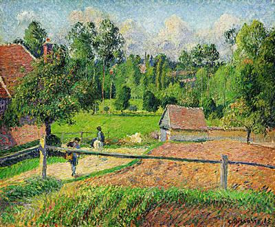 Landscape Painting - Vue De La Fenetre De Lartiste by Celestial Images