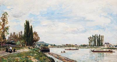 Perspective Painting - Vue De Meudon Du Pont De Sevres by Johan-Barthold Jongkind
