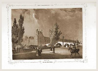 Vue Du Pont - Royal, Paris And Surroundings Art Print