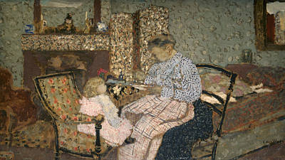 Of Toddlers Painting - Vuillard Soup, 1900 by Granger
