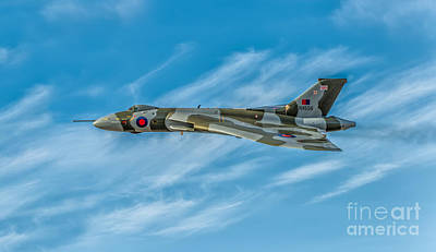 Union Jack Photograph - Vulcan Bomber by Adrian Evans