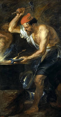 Vulcan Painting - Vulcan Forges Jupiters Thunder by Peter Paul Rubens