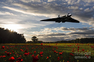 Poppies Field Digital Art - Vulcan History by J Biggadike