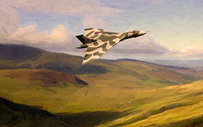 Painting - Vulcan On Exercise by Nop Briex
