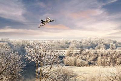 Snowy Digital Art - Vulcan Winter  by J Biggadike