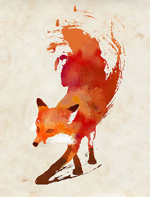 Watercolor Mixed Media - Vulpes Vulpes by Robert Farkas