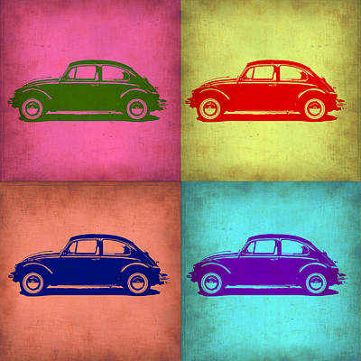 Old Car Painting - Vw Beetle Pop Art 1 by Naxart Studio