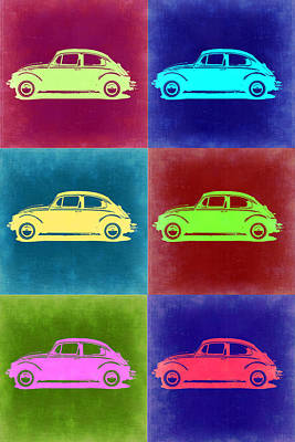 Beetle Painting - Vw Beetle Pop Art 2 by Naxart Studio