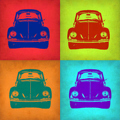 Vw Beetle Painting - Vw Beetle Pop Art 5 by Naxart Studio