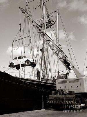 Port Kent Photograph - Vw Beetle - Ramsgate - 1960's    #501 by Hart Photography Ltd