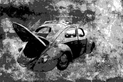 Photograph - Vw Beetle Cutout by Athena Mckinzie