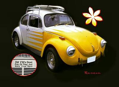 Photograph - Vw Bug Surfer by Sadie Reneau