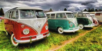 Photograph - Vw Bus Assortment by Steve McKinzie