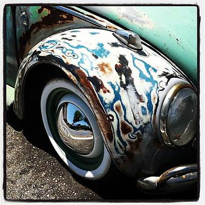 Wing Mirror Photograph - Vw Fender Art by Gwyn Newcombe