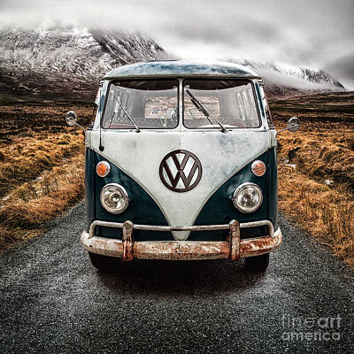 Glencoe Photograph - Vw In Glen Etive by John Farnan