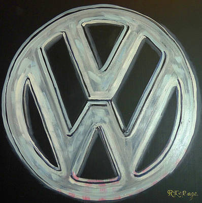 Painting - Vw Logo Chrome by Richard Le Page
