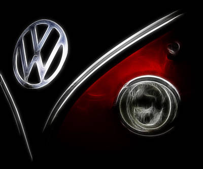 Photograph - Vw Micro Bus Logo by Steve McKinzie