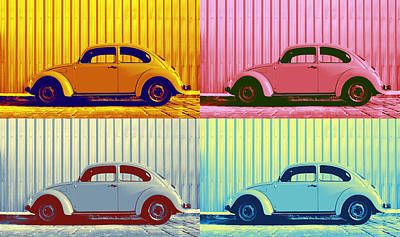 Lovers Digital Art - Vw Pop Autumn by Laura Fasulo
