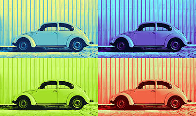 Lively Photograph - Vw Pop Summer by Laura Fasulo