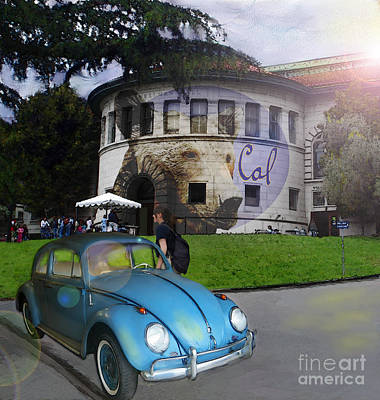 Digital Art - Vw - Uc Berkeley by Lisa Redfern