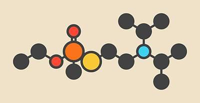 Vx Nerve Agent Molecule Art Print by Molekuul