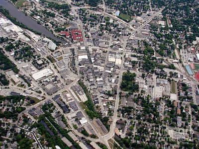 Photograph - W-052 Waukesha Wisconsin Downtown by Bill Lang
