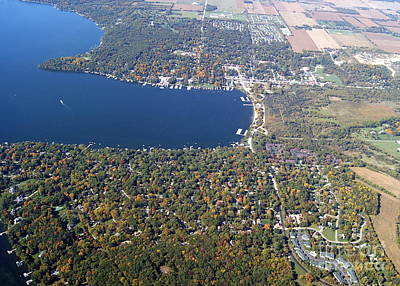 Photograph - W-057 Williams Bay Fall Geneva Lake Wisconsin by Bill Lang