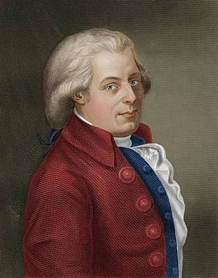 W A Mozart Art Print