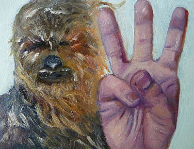 Chewbacca Painting - W Is For Wookie by Jessmyne Stephenson