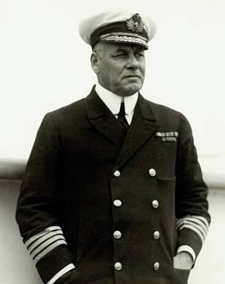 W. R. D. Irvine Wearing A Naval Uniform Art Print by Dana B. Merrill